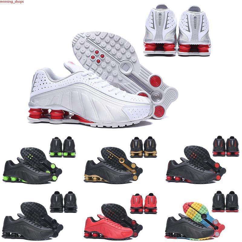 Max Shox R4 Venta caliente Shox 4S Men Trainer Spors Spors Sneakers Triple Black White Og Oreo Designers Zapatos Racer Azul Atletico Atlético Des Chaussures Tamaño 36-45