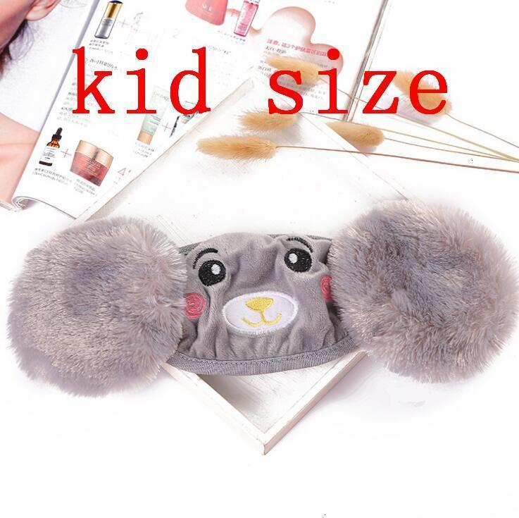 Фабрика 2 в 1 ребенок мультфильм медведь лицевая маска крышка плюшевые уха защитные толстые теплые маски рот зимний рот-муфель ушла от Pwskh