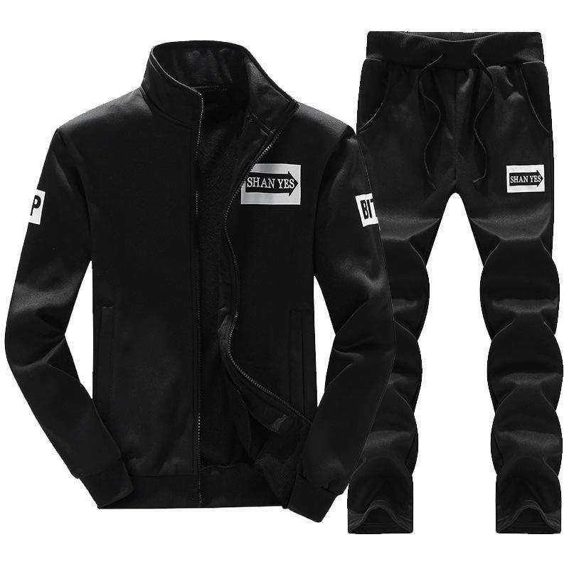 Bolubao Männer Set Sportswear + Swetpants Frühling Sommer Männliche Kleidung Casual Sportswear Trainingsanzüge Sweatshirt Männliche Set Anzug 201204