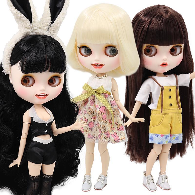 Ледяная фабрика Blyth кукла BJD совместное тело белый кожа пользовательские кукла индивидуальные лица матовое лицо с зубами 30см игрушка 201021