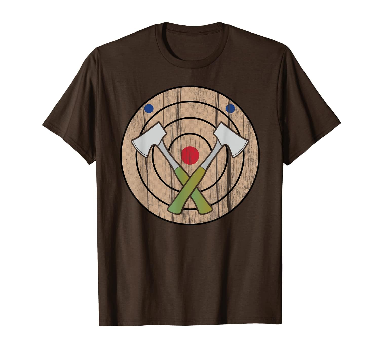 T-shirt da regalo di bullseye tshirt tshirt ascia