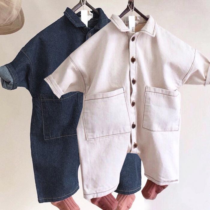 2019 Automne Nouveau Coréen Vêtements Pour Enfants Enfant Baby Girl Garçon Garçon Denim Princesse Enfants Vêtements Vêtements Fashion T200917