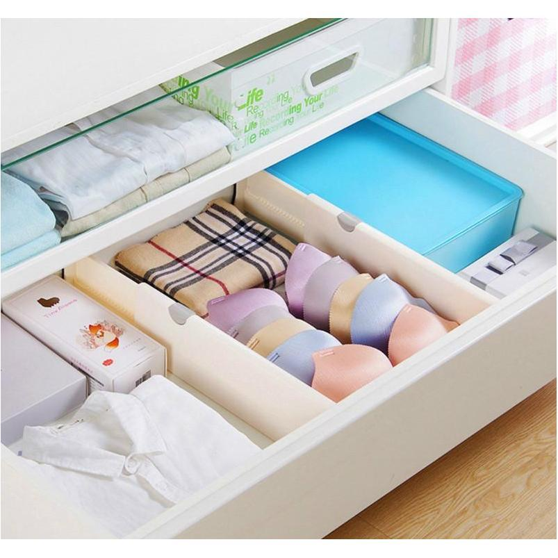 2 Pack Expandable Cabinet Drawer Divider 10 Cm Kitchen Storage And Organization Lq5Pt