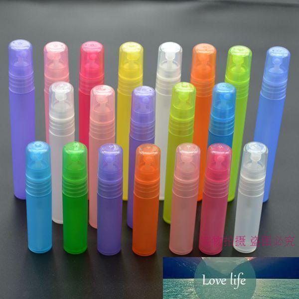 Ücretsiz Kargo 120 adet / grup 10 ml PP Renkli Plastik Doldurulabilir Parfüm Mini Sprey Şişeleri Örnek Atomizer Parfüm Parfum Şişeler