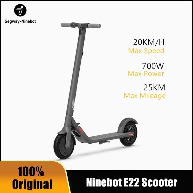 Nouvelle originale Ninebot E22 Bottom Smart Smart Scooter Electric Scooter 20km / h pliable Boverboard Long Skate Board