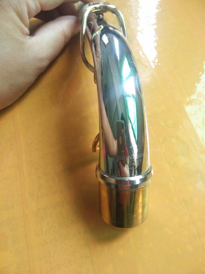 Saxofono Alto Yanagisawa Necks Nichel placcato argento Sax Bend Neck Brass Materiale Materiale reale Immagine reale dello strumento musicale del collo