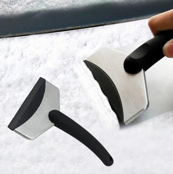 الثلج مكشطة الجليد سيارة الزجاج الأمامي السيارات مزيل الجليد دائم الفولاذ الصلب نظيفة أداة نافذة تنظيف أداة الشتاء غسل السيارات الملحقات ZYY231