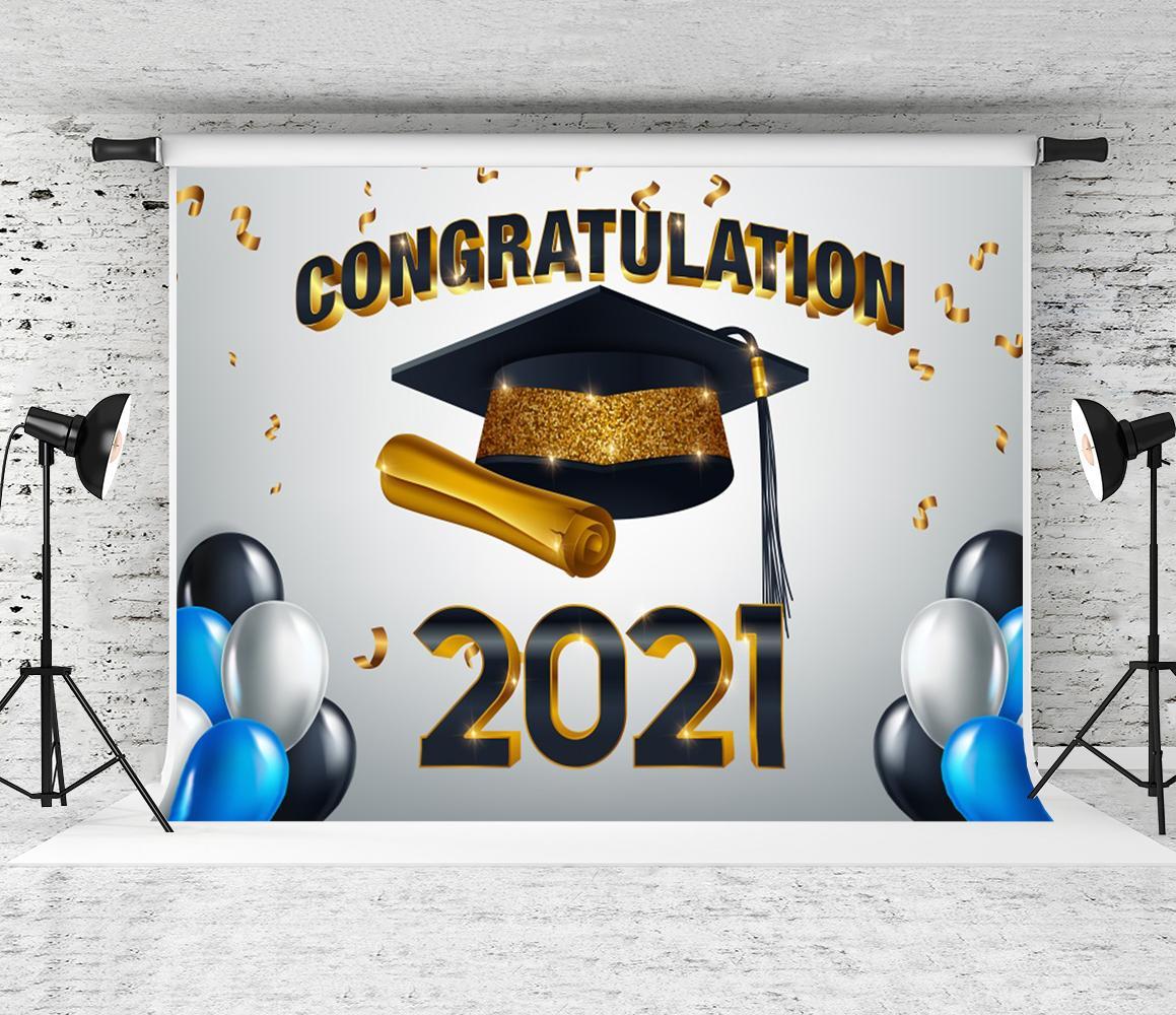 2021 Temporada de graduación TEMPORADA DE TEMPORADA BALLOONS BACKELOR CAP DE CABLO DE FOTOGRAFÍA FONDA FONDA FELICIDADES FELICIDADES DE PRESENTARIOS PARA ESTUDIANTES PROP