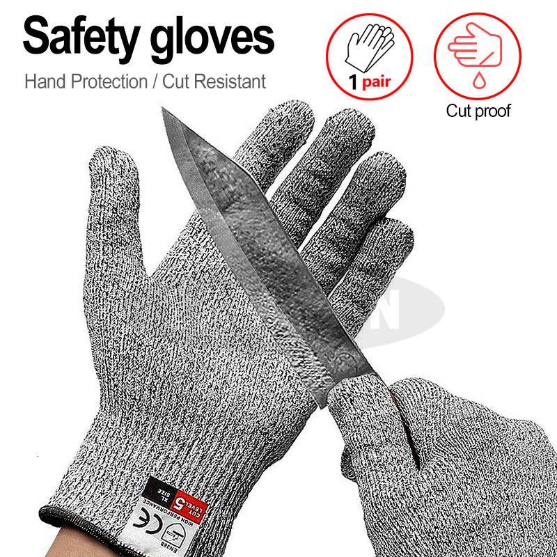 5 Gradenniveau Multifunktionsschutz Sicherheit Anti Hochfeste Schnitthandschuhe Küche Cut Resistant Handschuhe für Fischfleisch Sicherheitshandschuhe