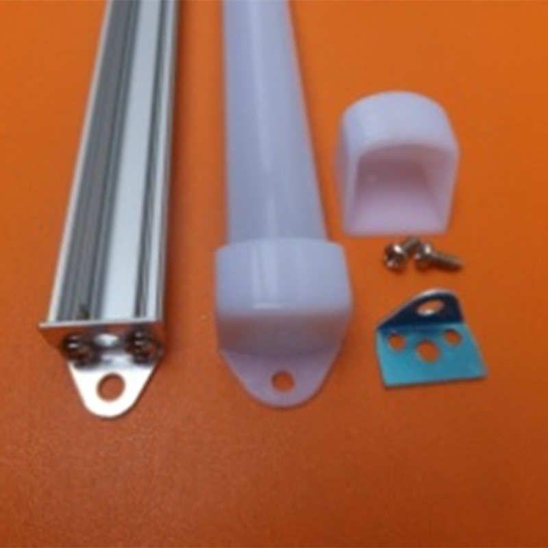 Spedizione gratuita 2000mmx18mmx11mm 2m lunghezza LED Strip Strip Light Copertura lattea Profilo di alluminio con tappi terminali per strisce a LED e barra rigida