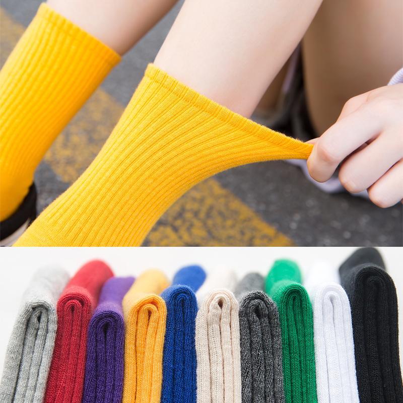 Unisexe arc-en-ciel Couleur 100 Cato Harajuku coloré Mid Socks Hommes Standard One Couple