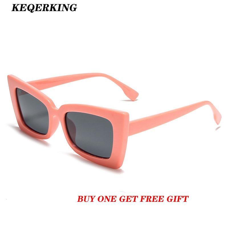 Cute Sexy Retro Square Frame Sunglasses Women Small Black Transparent Pink 2020 Punk Vintage Cheap Sun Glasses Red Female Uv400