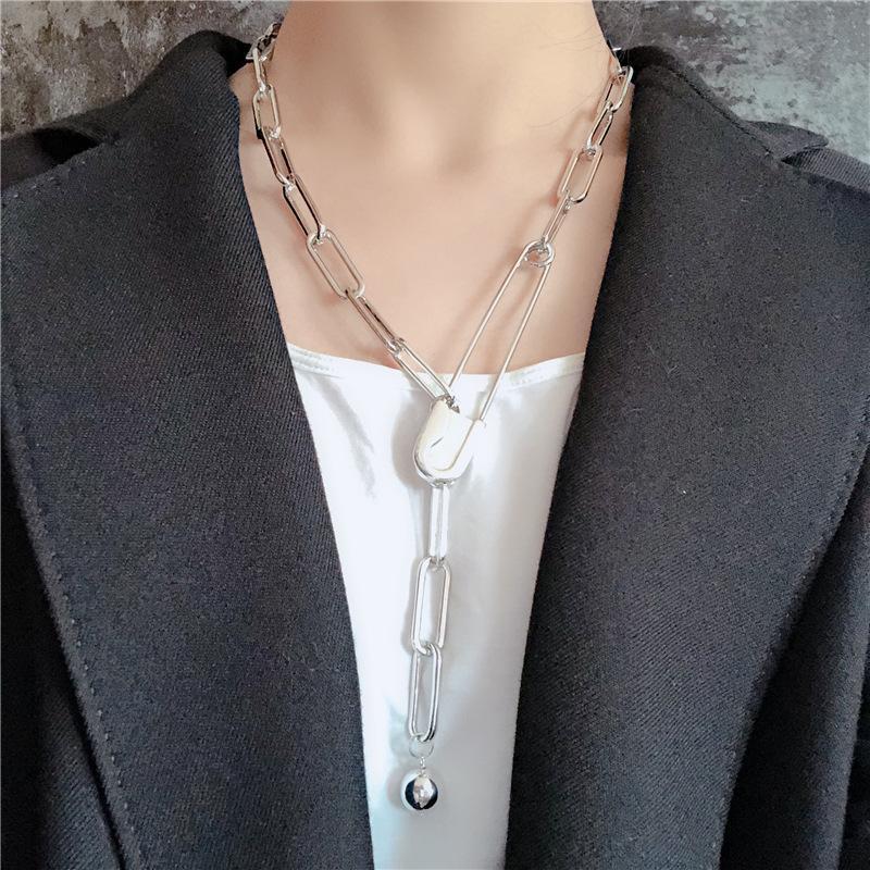 Gold Silber Farbe Sicherheit Pin Halsketten Einfache Linked Kette Halsketten Für Frauen Chic Charm Chokers 2020 Party Schmuck
