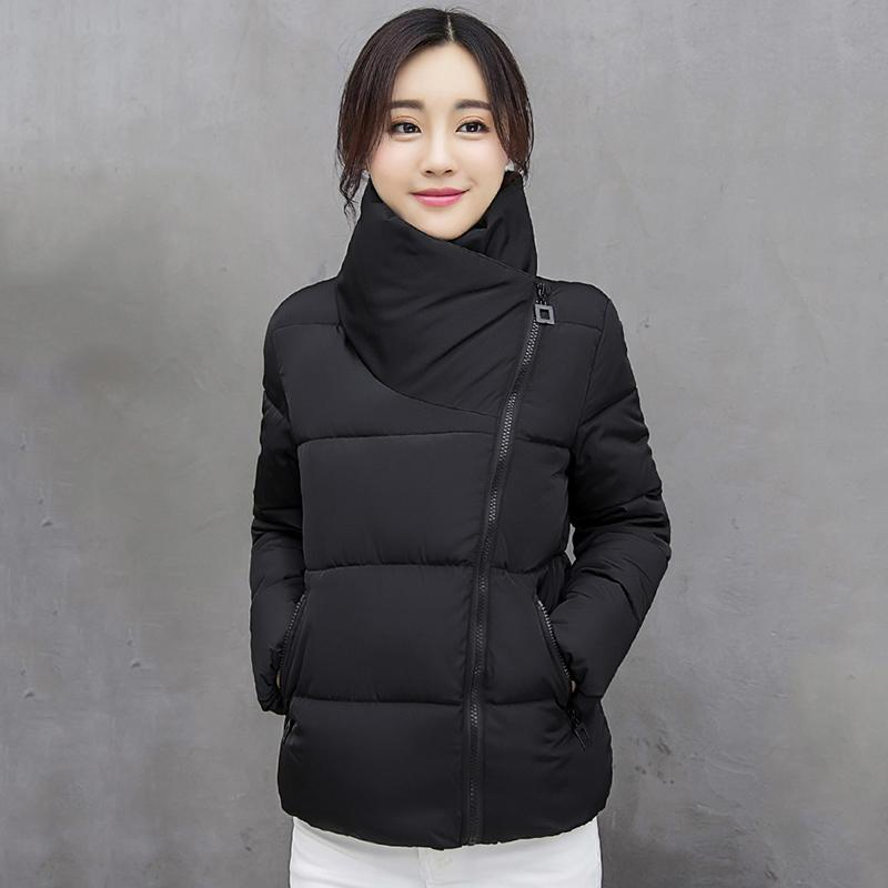 Winter Mujer Parkas Solid Jacket Women Plus Size Windproof Design Stand Collar Solid Thick Casual Coat Femme Kobieta Kurtka 201211