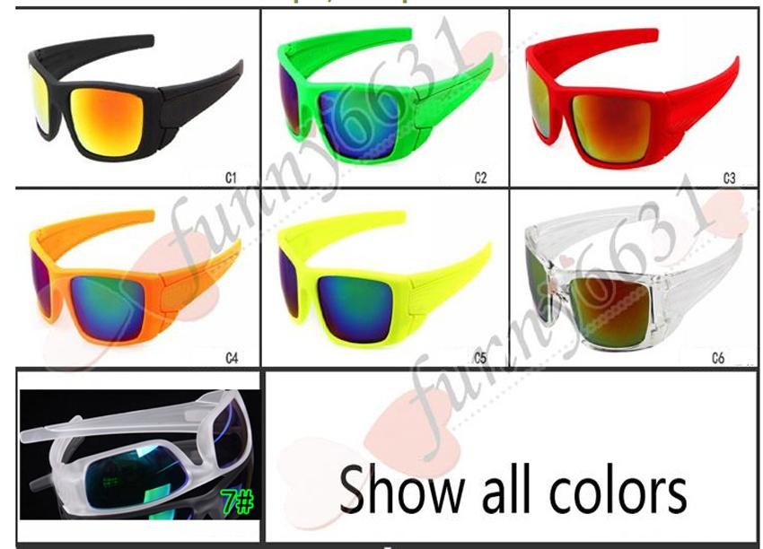 summer newest style man sport 7 colors sunglasses Cycling glasses woman NICE FACE driving the sunglasses Dazzle colour glasses free shipping
