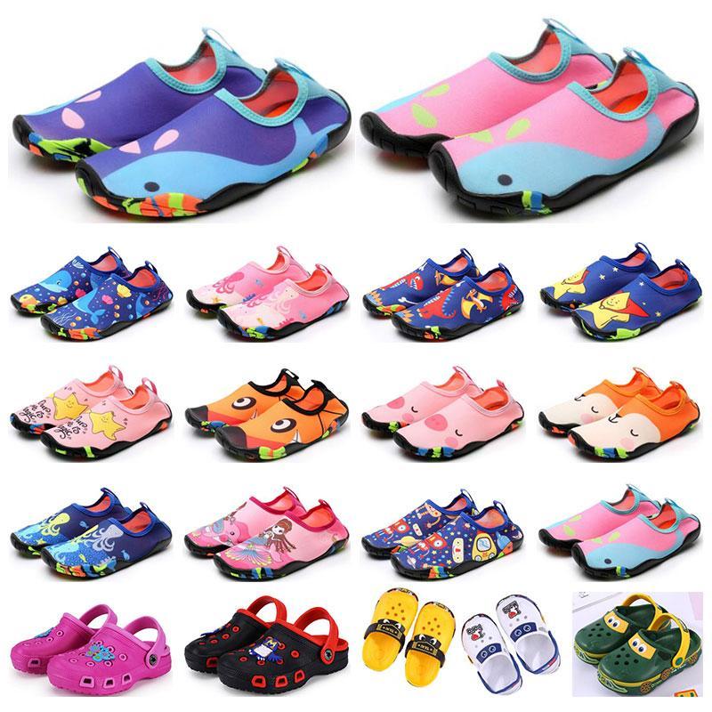 Hotsale Children Sports Shoes Wading Sandali traspiranti Sandali Beach Indossare antiscivolo antiscivolo resistente all'usura dei cartoni animati scarpe da ragazzi ragazze formatori estivi