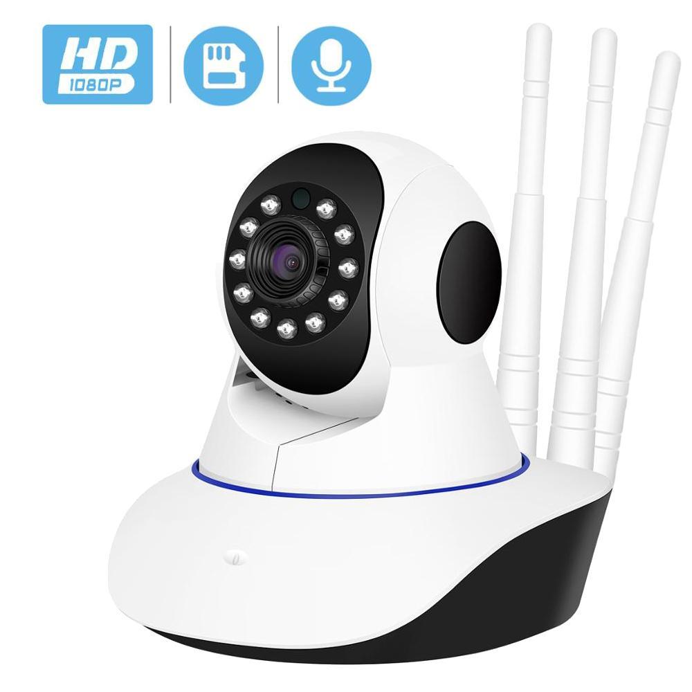 Kablosuz IP Kamera 1080 P Wifi Ağ Güvenliği Gece Görüş Ses Video Gözetim CCTV Kamera P2P ICSEE Bebek Monitör LJ201209