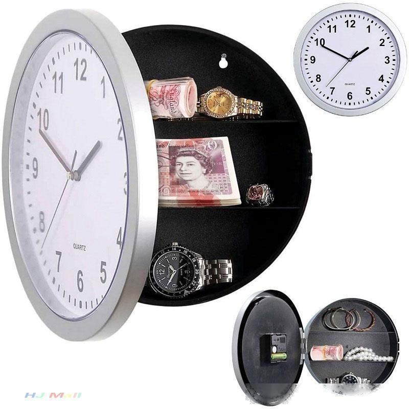 Creativa secreto escondido de almacenamiento del reloj de pared del Ministerio del Interior Decroation de seguridad Caja de seguridad Stash joyería materia de contenedores Reloj