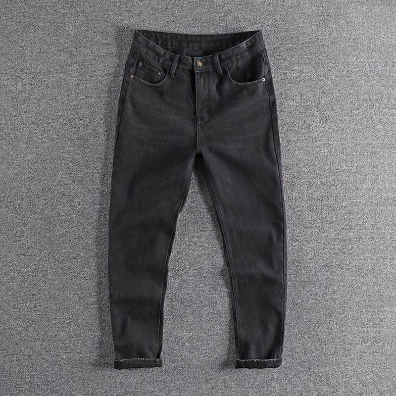 2020 Neue Ankunft Trendy Black Youth Gerader Hosen Europäische und amerikanische vielseitige Männer Jeans Kernt Hosen für Promotion