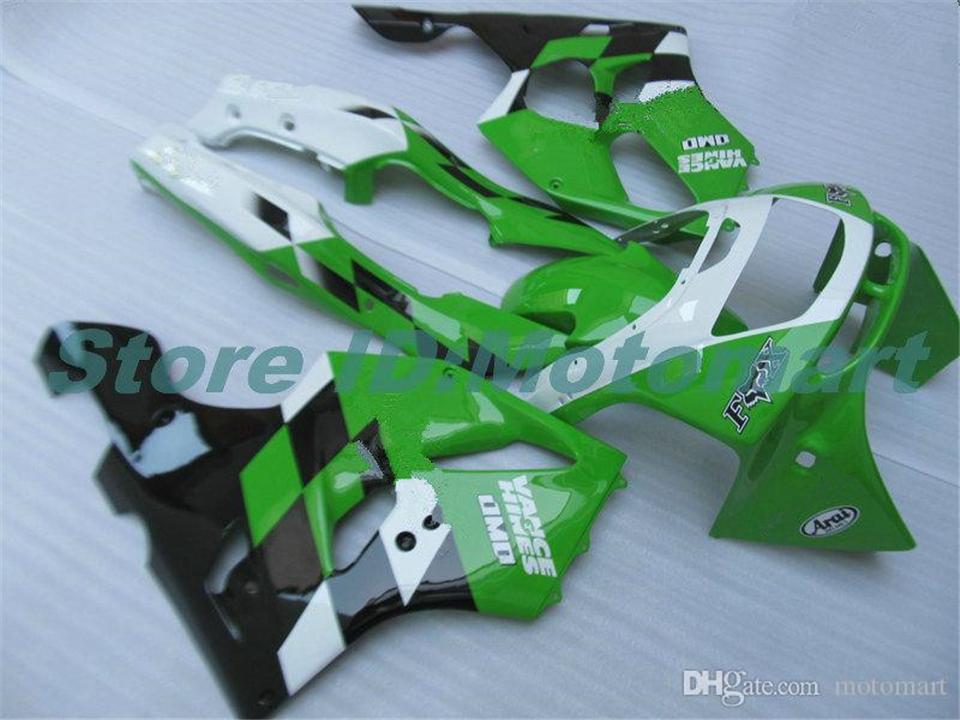 BODY PER KAWASAKI ZX 636 600CC ZX-636 1994 1995 1996 1997 ZX636 ZX-6R ZX600 ZX 6 R 6R ZX6R 94 95 96 97 Green Black HM08 Fairings