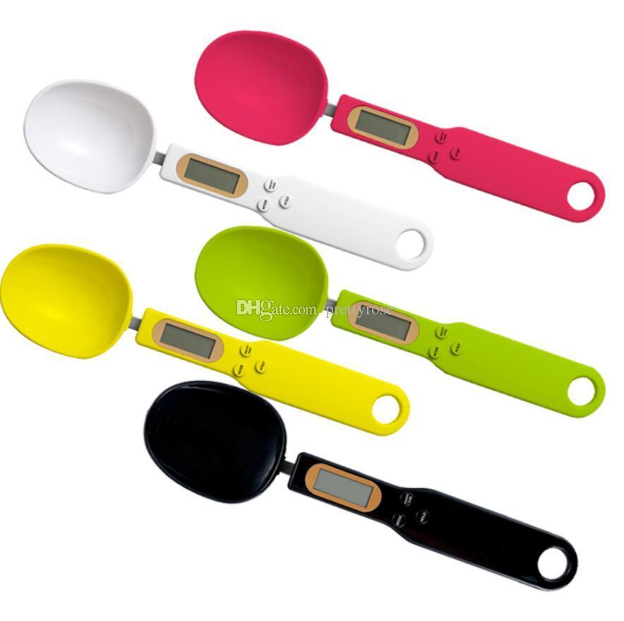 500 g / 0.1g Cucharas de medición digital precisas Cocina de cocina Cuchara de medición de gramo Cuchara electrónica con pantalla LCD Escalas de cocina DHL