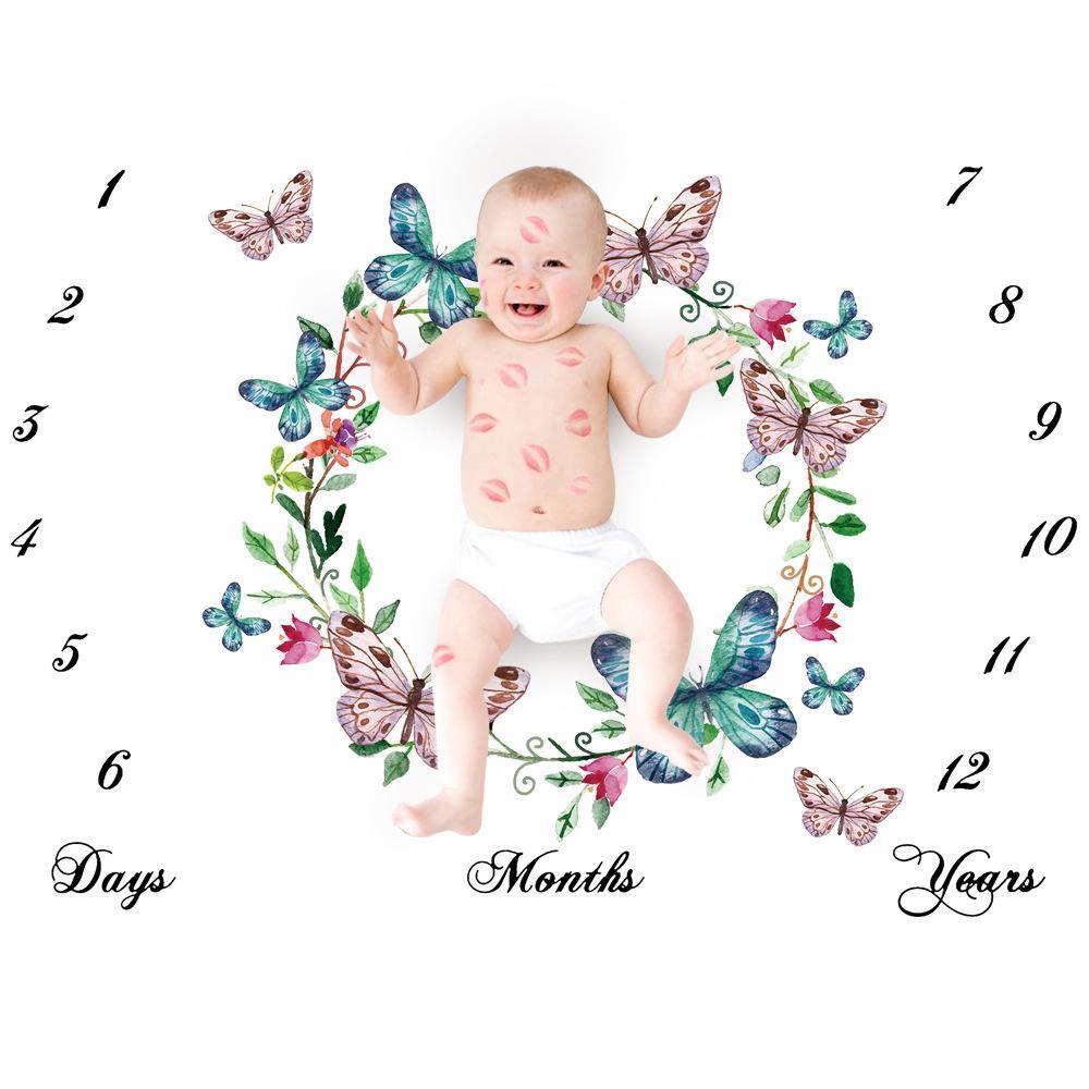 أزياء أطفال بطانيات القطن صور دعامة البطانيات الرضع التقميط إلكتروني زهرة الرقمية الطفل ورقة السرير كيس النوم 100 * 100 سنتيمتر 16 أنماط HHE4097