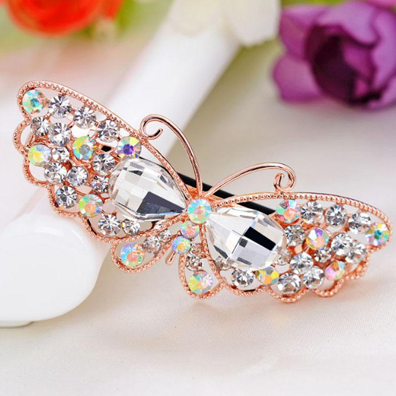 Clips de pelo Barrettes Moda Mariposa Clip para mujeres Accesorios para niñas Moda Animal Pelos Joyas Aleación Barette CH3018