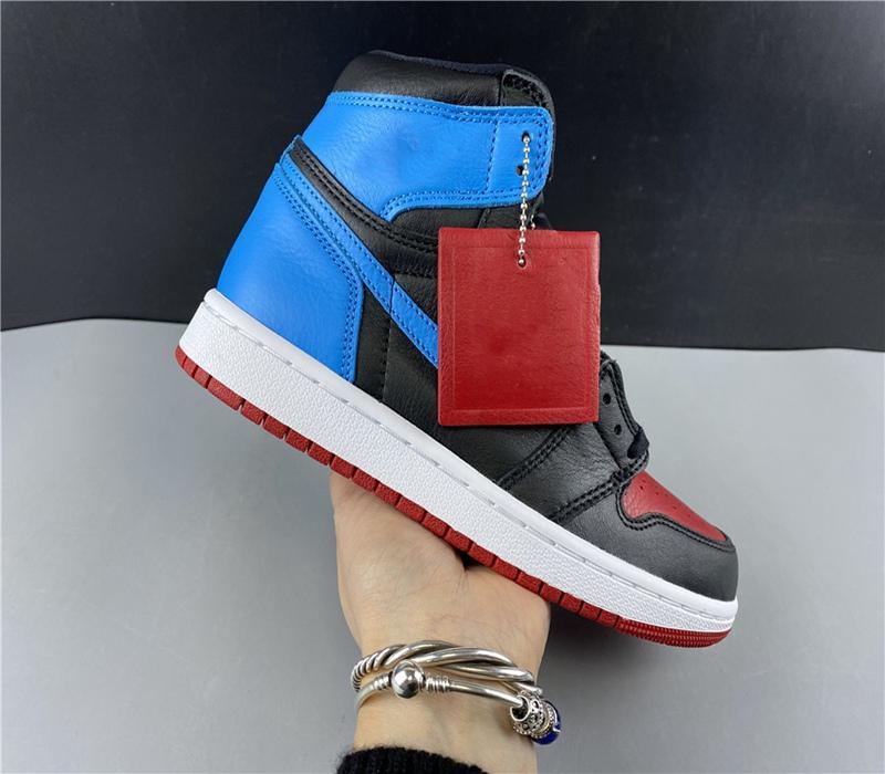 2020 Прибытие Jumpman 1 1S Высокий Черный Носок не Для Перепродажи Мужчины Женщины Баскетбольные Обувь UNC Мужские Женские Кроссовки Обувь Размер 40-47,5