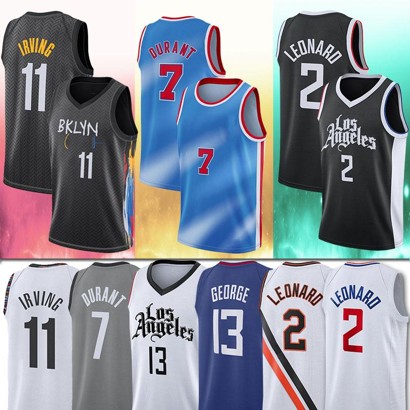 7 Кевин Дюран 11 Кирин Мужские Ирвинг Джерси 2 Kawhi 13 Paul Leonard George City Баскетбол