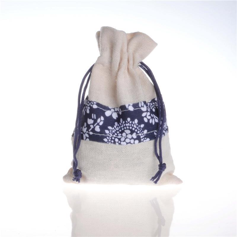 Drawstring Burlap Bag Blue And White Porcelain Pattern Gift Bags With Jewelry Packaging Wedding Bags With Candy Bag1