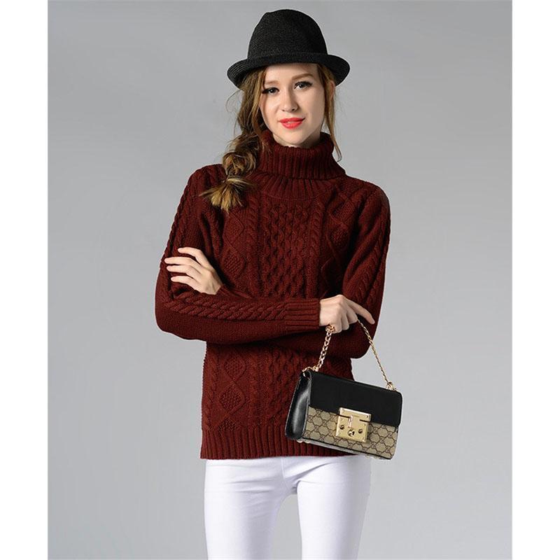 2020 Nuevo otoño invierno suéteres de punto jerseys mujeres cuello alto manga larga color sólido delgado elástico suéter corto jumper