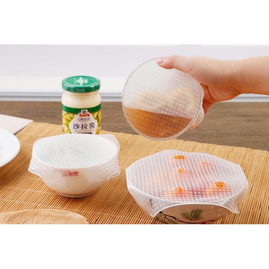 뜨거운 판매 4pcs / 세트 음식 흔들리는 스트레치 뚜껑 재사용 가능한 흔들리는 쉴링 필름 그릇 덮개와 랩 씰 진공 커버 리 WMTWDK BDENET
