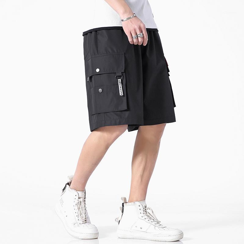 Pantalones cortos para hombres Iidosan Black Cargo Men 2021 Brand Muti-Pockets Pantalones de algodón TRABAJO CASUAL DRAVORIZACIÓN 5XL1