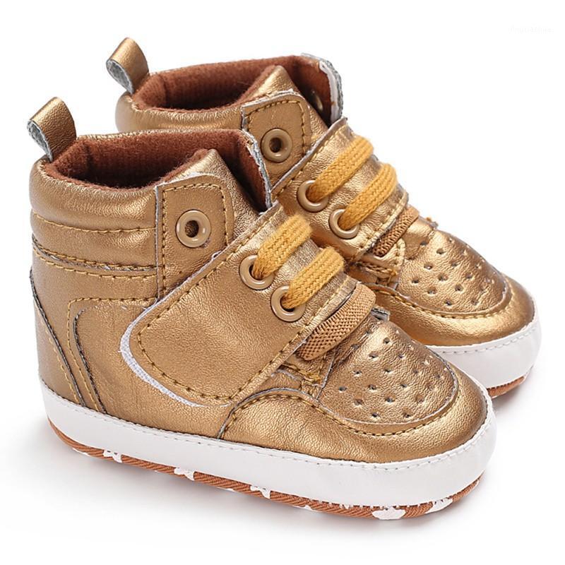 Yenidoğan Erkek Bebek Kız Sıcak Çizmeler Yumuşak Sole Beşik Ayakkabı Kaymaz Sneaker PU Nefes Katı İlk Yürüyüşe 0-18m1