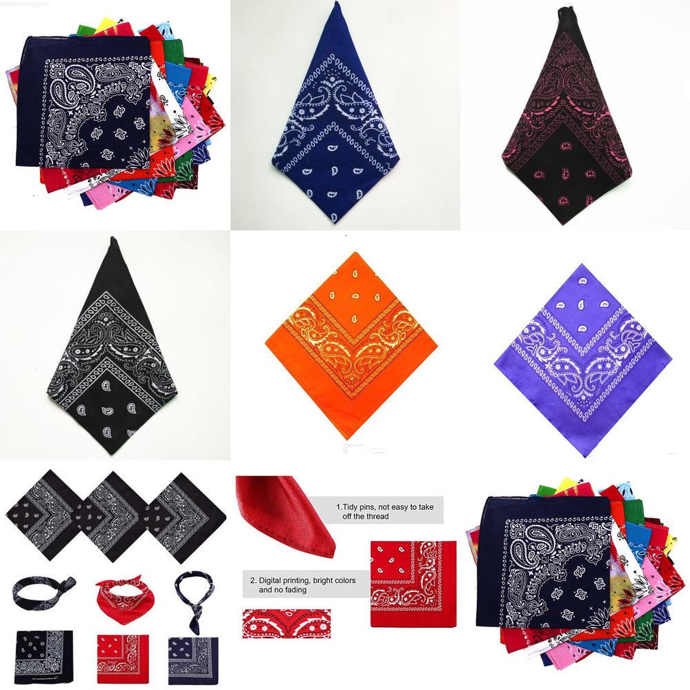 Cotton Outdoor Cool 100% Activities Riding Collar Cute Women Print Bandana Scarf Square Head Scarf Female Party Cosplay