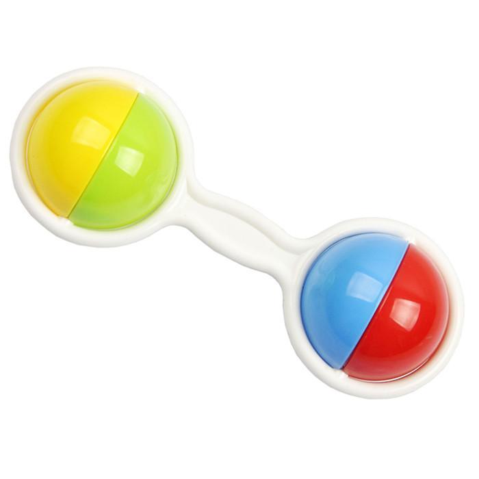 Красочный пластиковый двойной шар успокаивающий мягкий ребенок жевать прорезывания зубов игрушки