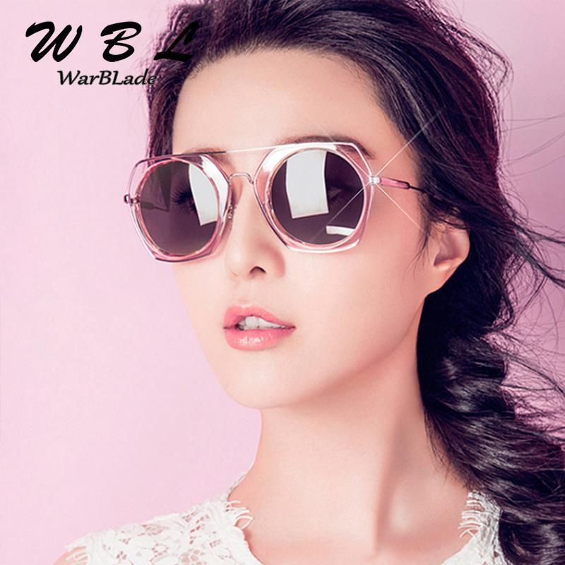 Warblade 2020 Neue Quadratische Sonnenbrille Frauen Gläser Rahmen Vintage Marke Designer Reflektierende Frauen Männer Mode Sonnenbrille UV400