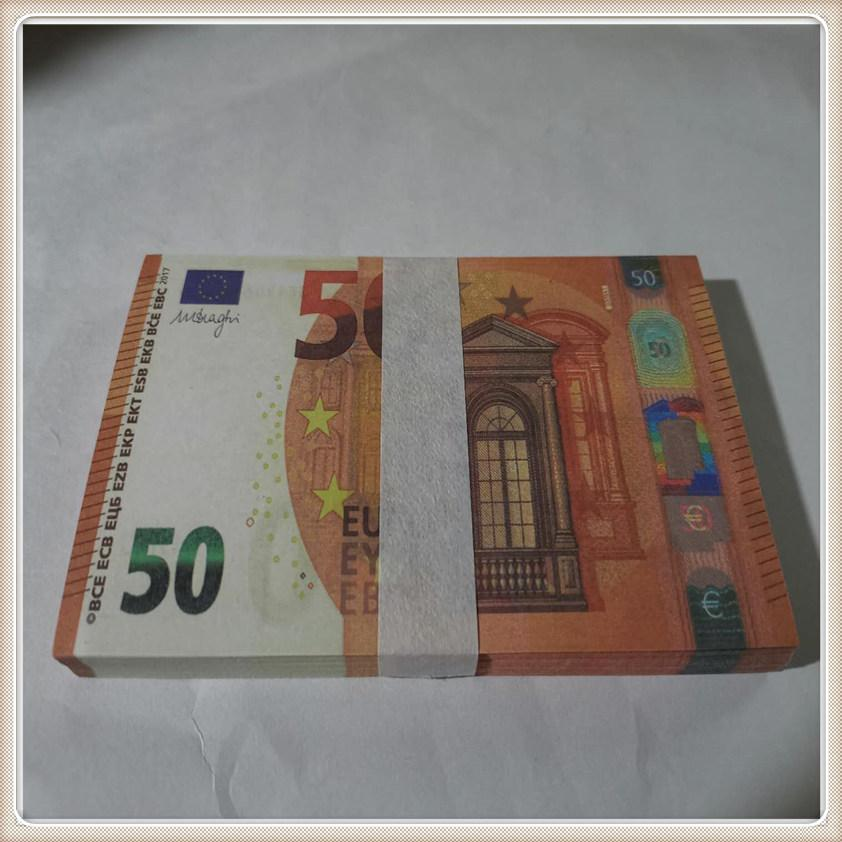 Bar Prop Stage Copy Toy Euro Shooting Party LE50-50 MV Counterfeit Banknote Prop Atmosphere 50 Counterfeit Hot Raeer Cwbfw