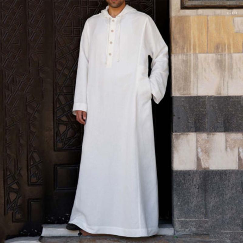 Hoodies Muslim Robe Kaftan Dressing Mens Saudi Arab Dubai Long Sleeve Thobe Arabic Long Islamic Jubba Thobe Man Clothing 20201