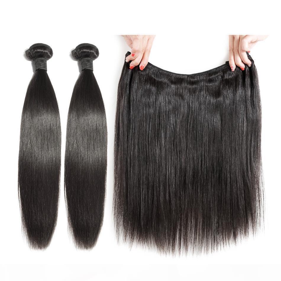 Rohes brasilianisches Haarmaterial 100% Nagelhaut ausgerichtet seidige Gerade Welle Jungfrau Menschenhaarbündel in indischen natürlichen geraden Haarbündel