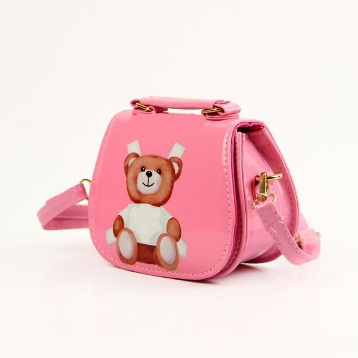 Neue heiße Verkauf Baby Mädchen Cartoon Bär Taschen Kinder Leder Prinzessin Taschen Kinder Handtaschen Kind Umhängetaschen Mädchen Crossbody Tasche Geldbörsen