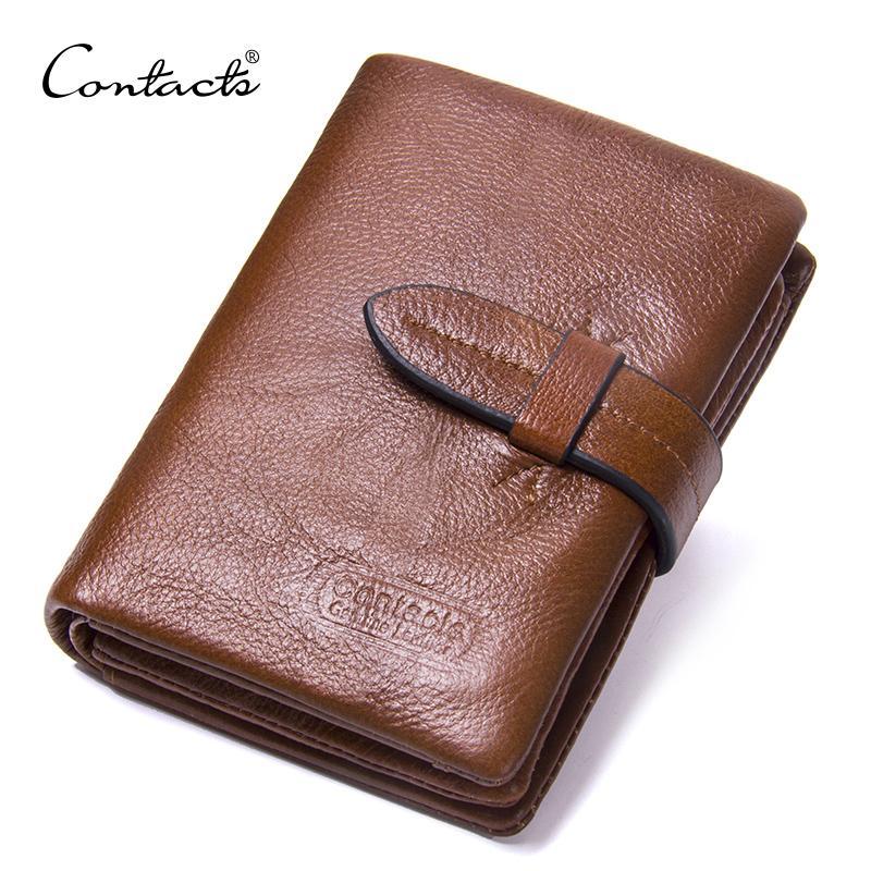 Contact's Marke Kurze Männer Geldbörsen Echtes Leder Männlichen Geldbörse Kartenhalter Brieftasche Mode Mann Haspe Brieftasche Mann Münze Taschen