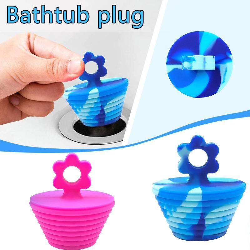 Banyo Aksesuarı Set 2 Adet Çiçek Silikon Plugskitchen Kauçuk Küvet Lavabo Zemin Drenaj Fiş Mutfak Çamaşır Su Durdurucu Aracı Banyo