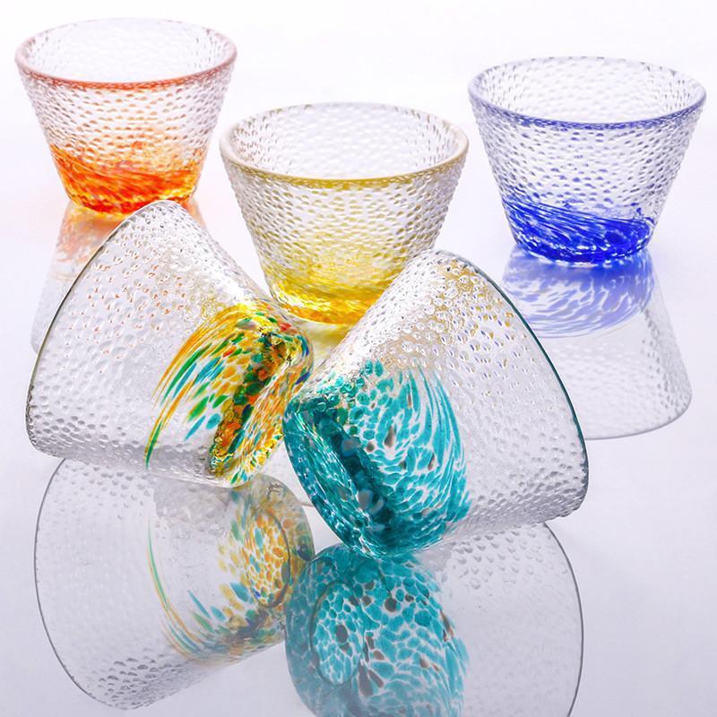 Taza de té de vidrio Copa de vidrio transparente resistente al calor creativo 25 ml 35ml 40ml de vidrio Kung Fu Taza de bebida HWA2891
