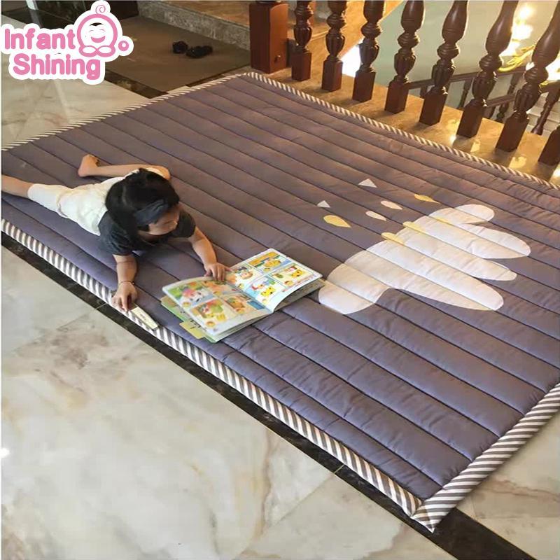 Infantile brillante bambino play mat cotone playmat per bambino 2 cm spessore del tappeto antiscivolo 140 * 200 cm bambini gioco tappeto macchina lavabile Z1123