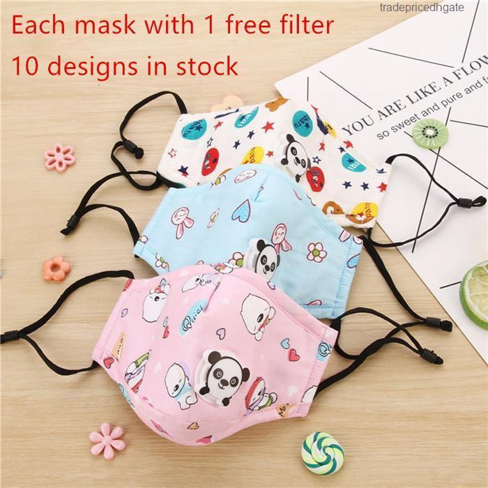 M Anti Masks Cotton Boys Girls Children PM2.5 Polvo Polvo a prueba de polvo Seguro de protección de la cara de la cara transpirable 5pcs
