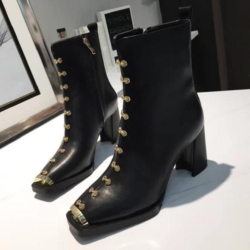 Fashion Automne Hiver Martin Boots Designer Femmes Chaussures Lettre Suisse Suède Bottes Haute Haute Bottes en plein air Fashion Fashion Bottes courtes Ch230 08