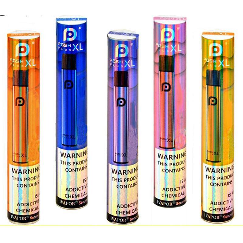 Novo Posh Plus XL Dispositivos descartáveis Vape Pen 1500Puffs Pods Starter Kit Atualizado 5ML Cartuchos Prefigurados Xtra Barras Vaporizador E Cigs Vapor