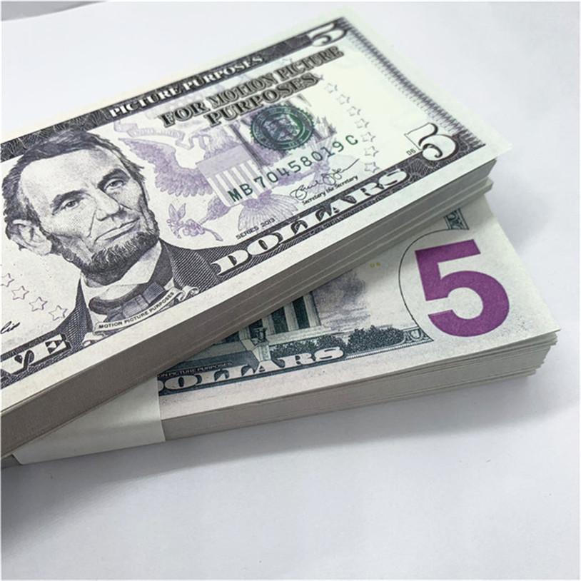 100 stücke / paket neues design 2021 bar party banknoten dollar kopie banknoten großhandel realistisch vorgeben Geldpapier A18