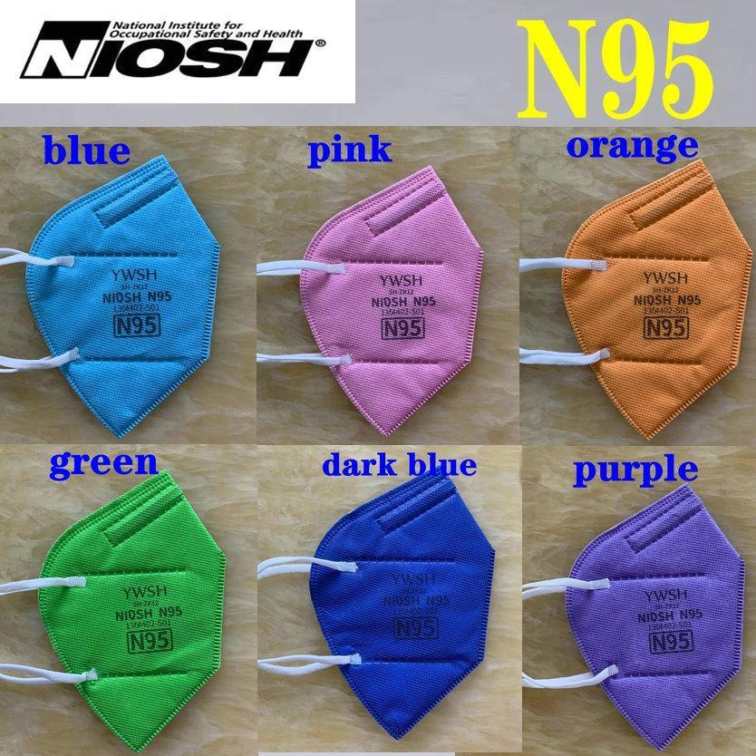 N95 Niosh-Maske US-Zoll-Whitelist Designer-Gesichtsmaske YWSH KN95-Atemschutz-Filter Anti-Nebel-Dunst- und Influenza-DUSTROOF 5-Layer-Top-Qualität